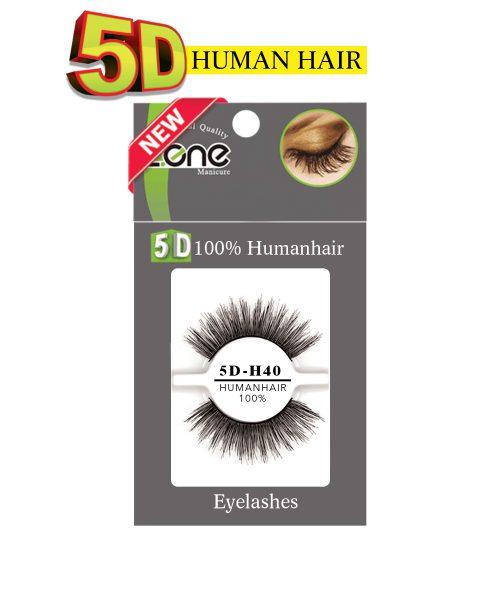 مژه جفتی Z-409) HUMAN HAIR 5D) کدH40