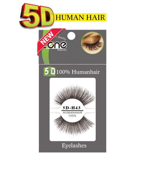 مژه جفتی Z-409) HUMAN HAIR 5D) کدH43